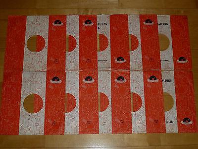 10 Hüllen COVER Schellack Schellackplatten POLYDOR ORIGINAL! 25cm Grammophon TOP
