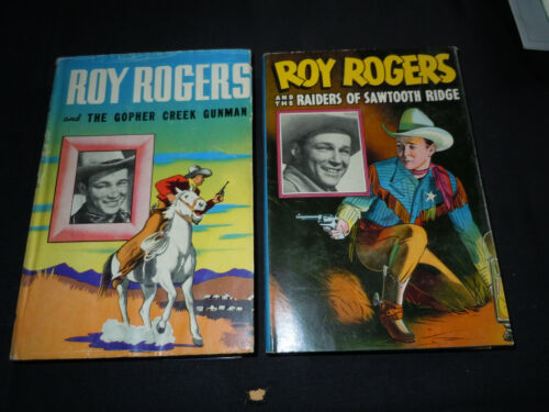 Lot of Two Authorized Edition Roy Rogers HC/DJ Books 1945 & 1946 Whitman Pub.Co.