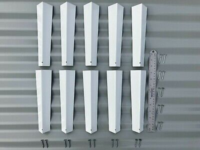 10 Brand New Siding Corners 516 X 9-14 Aluminum For Lap Siding W Nails