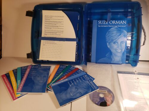 Suze Orman The Ultimate Protection Portfolio 8 Books CD, And Accessories. Used.  - $20.00