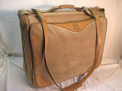 Hartmann Suede Limited Edition Rolling Wheeled Luggage Garment Bag