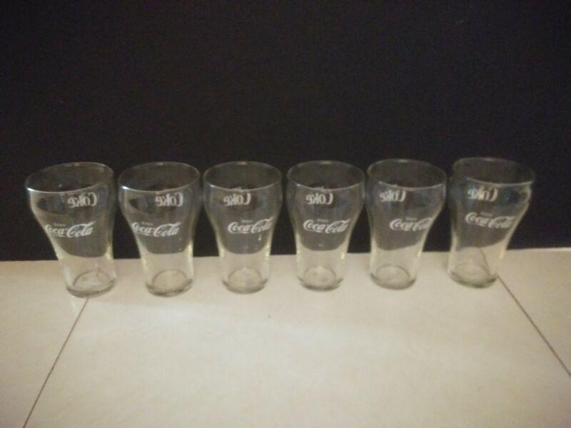 Vintage Set of 6 Enjoy Coca-Cola Bell Glasses