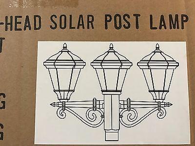 Idc Westinghouse 3 Head White Solar Post Lamp Head  1 1 4 Threaded Post No Incl