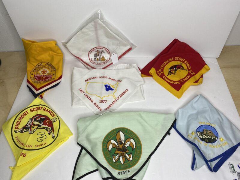 Lot Of 7 VINTAGE BSA BOY SCOUTS Of AMERICA NECKERCHIEFS