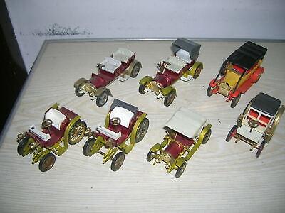 7 Stück alte GAMA Spielzeug Autos Oldtimer der 60er-70er Jahre ()