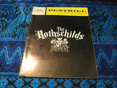 Vintage The Rothschilds Playbill 1970 Lunt Fontanne Theatre