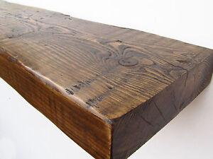 Reclaimed Floating Shelf Mantel Chunky Shelves Driftwood