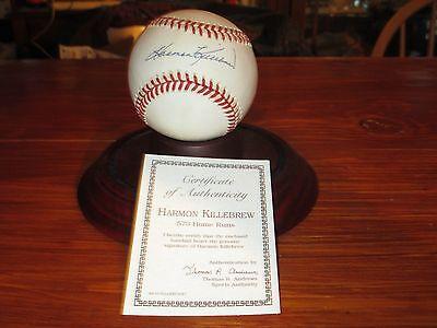 Harmon Killebrew HOF Signed Autographed Baseball Ball 500 HR (573 TTL) Club COA