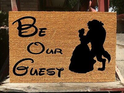 Disney Beauty And The Beast Gifts (Be Our Guest Doormat - Disney Beauty and the Beast - Cute Housewarming Gifts)