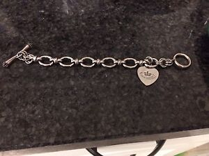 100% AUTHENTIC JUICY COUTURE Silver Starter Charm Bracelet