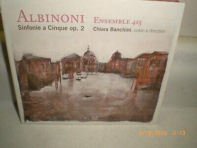 Albinoni: Sinfonias Op 2 Ensemble 415 Chiara Banchine CD