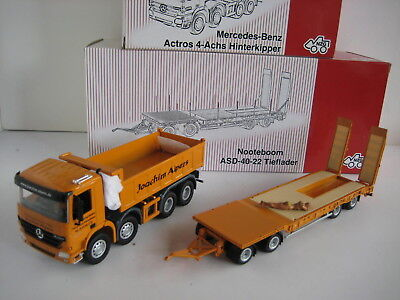 Mercedes Actros Nooteboom Low Loader Alpers 536 546 Nzg 1:50 Boxed
