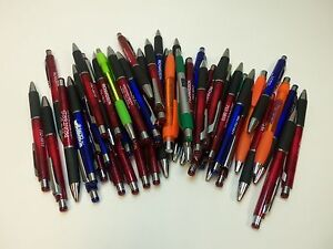 50 Wholesale Lot Misprint Ink Pens, Ball Point, Black Ink, Plastic, Retractable
