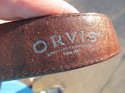 Men's Brown Leather Braided 90XA Belt Orvis Woven Used US size (Orvis Braided Belt)