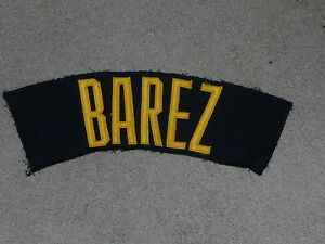 1980S-ANGEL-BAREZ-PITTSBURGH-PIRATES-GAME-WORN-USED-NAME-PLATE-OFF-JERSEY