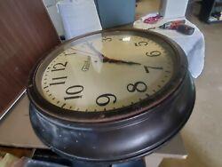 Telechron vintage wall clock 1918-1927 round. Old vintage electric