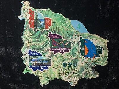 SCOTT #181-184 NORFOLK ISLAND PRECANCELED SOUVENIR SHEET/STAMPS