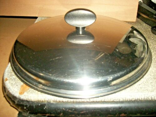 Vintage EKCO 6 Quart Stainless Steel Stock Pot Replacement Lid Only