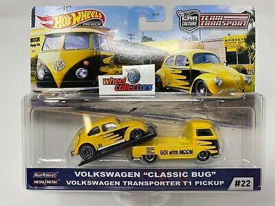 Classic Bug & T1 Pickup * Hot Wheels Team Transport Car Culture H Case