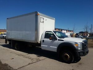 2012 Ford F-550 CHASSIS CAB F550 16Ft + Lift Gate V10 Gasoline