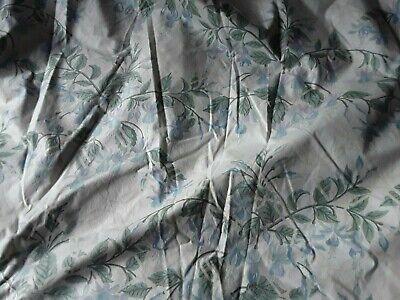 A Vintage Pr Handmade Lined Cottage Curtains Laura Ashley Fuschia Blue Pattern