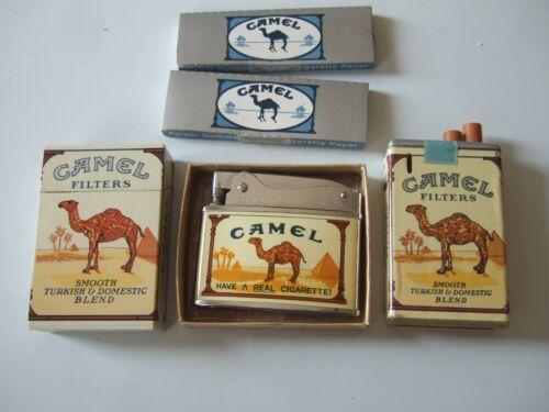 SET OF 3 CAMEL LIGHTERS -  Hard Pack - Soft Pack - Crown Design & 2 Camel Papers