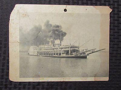 """Vintage RIVERBOAT #11 On The Mississippi River 10x7.5"""" GD- Cardboard"""