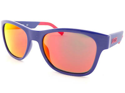 Lacoste Sunglasses Blue / Red Flash Mirror L829 (Lacoste Wayfarer Sunglasses)