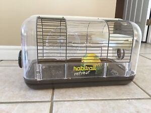 Hamster cage and everything else you need for a little critter