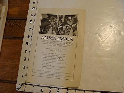 Vintage MARIONETTE Paper: AMPHITRYON, early German paper Munich