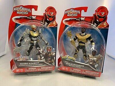 Power Rangers Super Megaforce Robo Knight and Zeo Gold Ranger Figures Lot MOC