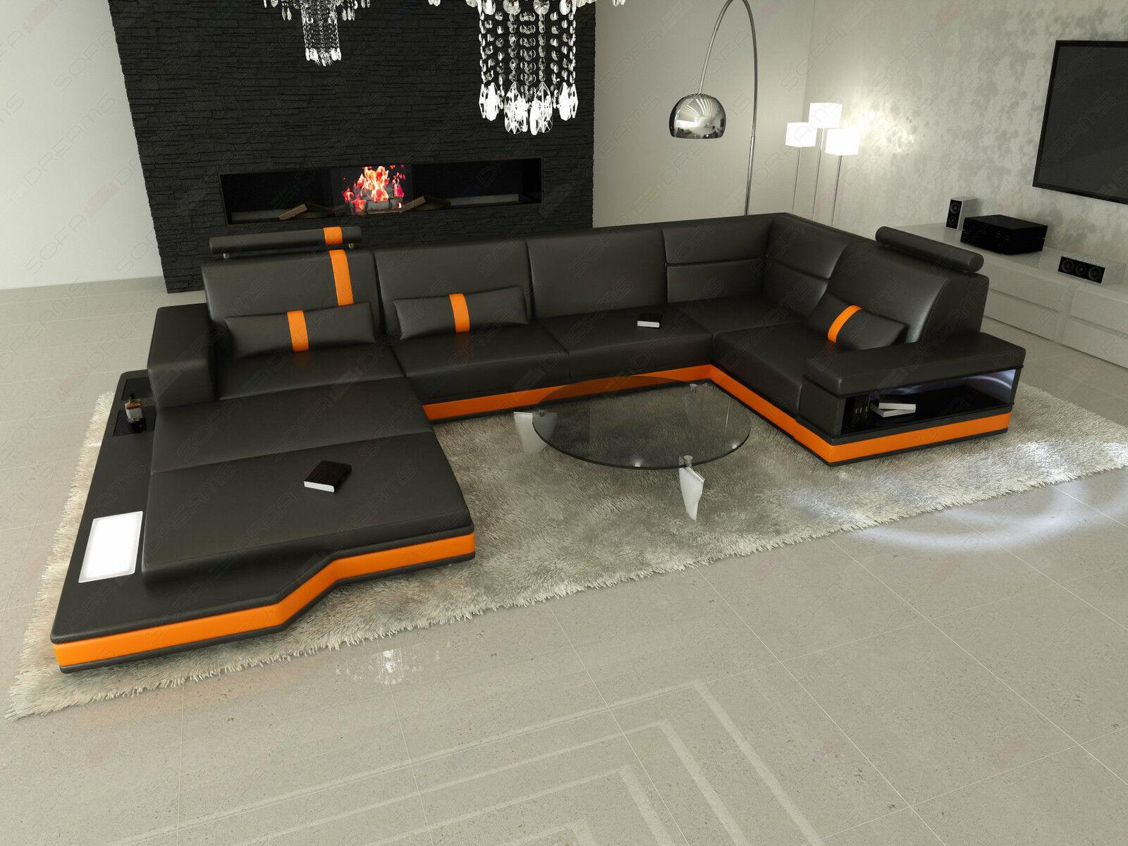 Ledersofa messana designer sofa wohnlandschaft licht eur for Ledersofa wohnlandschaft