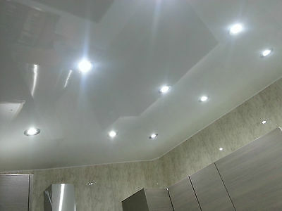 4 Plain White Gloss Effect PVC Waterproof Panels Bathroom Cladding Panelling