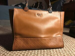 Authentic Guess Mid-Size Caramel Leather Purse