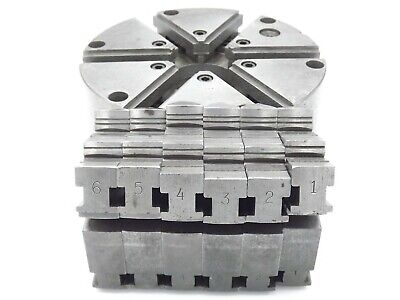 Buck 6 Jaw Lathe Chuck 4862 8 2 Sets Of Jaws Included No Etchings