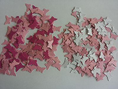 Streudeko Schmetterlinge Konfetti Hochzeit,Taufe,Baby Shower in Rosa/Pink/Weiß
