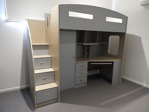 Loft bed with desk and storage Essendon Moonee Valley Preview