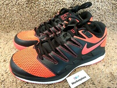 new arrival 65ff8 300a4 Nike Air Zoom Vapor X HC Mens Tennis Shoes Black Red AA8030 006 Size 6