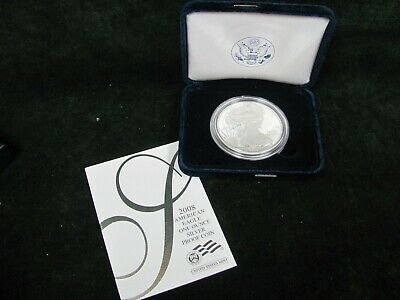 2008-W Proof Silver American Eagle with Box and COA