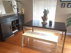 Dining table with bench ( Torsby IKEA ) North Epping Hornsby Area Preview