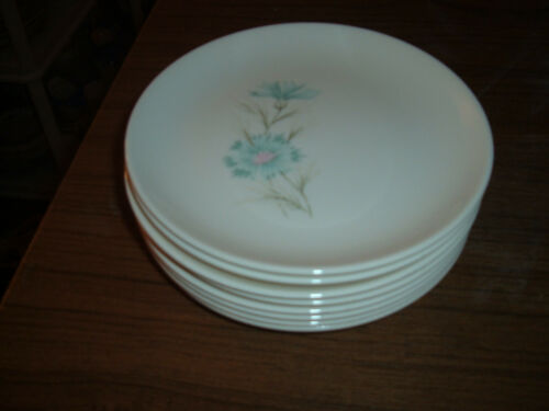Lot of 8 Retro Taylor Smith & Taylor Boutonniere Bread or Dessert Plates