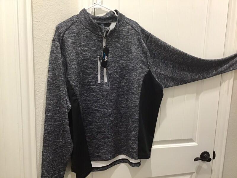 TGW 1/4 Zip Pullover Black 3X