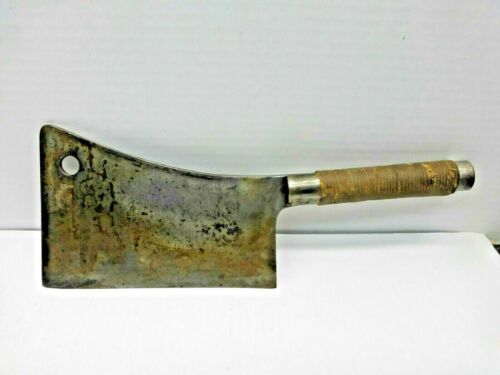 Heavy Vintage Cleaver Wrapped Handle