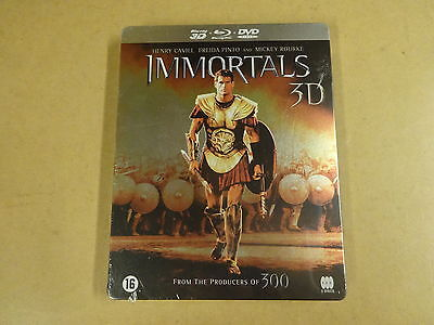 METAL CASE BLU-RAY 3D + BLU-RAY + DVD / IMMORTALS 3D ( MICKEY ROURKE... )