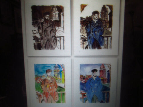 Signed Numbered BOB DYLAN Man On A Bridge 4 PRINT art portfolio DRAWN BLANK Seri