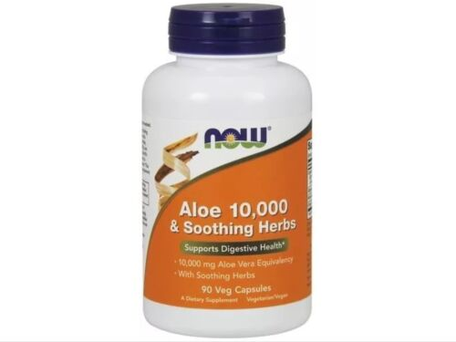 Aloe Vera 10,000 & Soothing Herbs Now Foods 90 VCaps