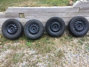 Winter radial tires on rims