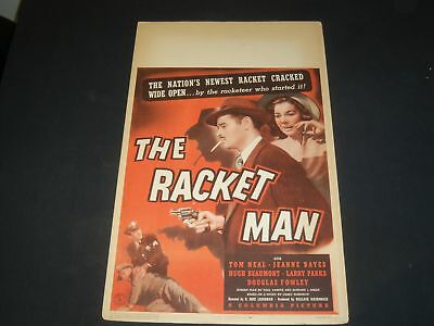 1943 THE RACKET MAN MOVIE POSTER - TOM NEAL, JEAN BATES - P 495