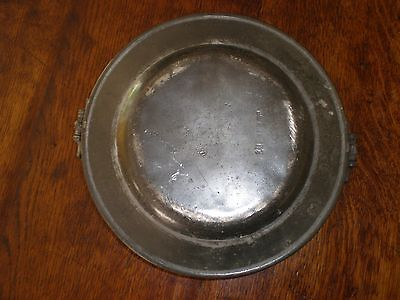 An Early 19th Century Pewter Dish Warmer - With Touchmarks