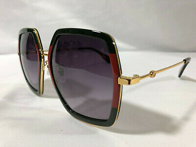Authentic New Gucci GG 0106S Sunglasses Green Frames Gray Lens Shade